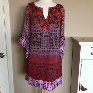 EUC Diane von Furstenberg print silk dress